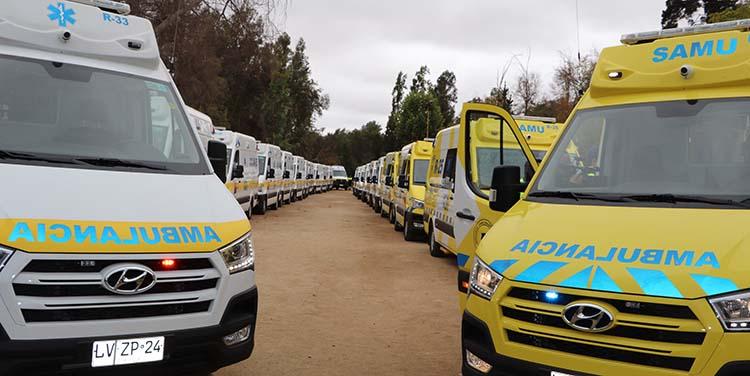 23 ambulancias de última generación llegan a la red del Servicio de Salud Viña del Mar Quillota